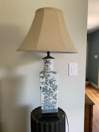 Hand Painted Lamp Chinoiserie Style Vintage  Mc Lean, 22101