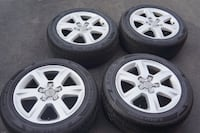 Original Audi 6-spoke alloy wheel & tire set 225 / 55 / R18 Burlington
