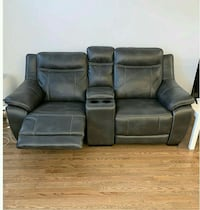Real Leather Reclining Couch and Love Seat $350 OBO Calgary, T2A 7S3