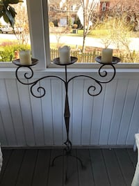"Heavy Wrought Iron Candelabra, 3'7"" Tall Ashburn, 20147"