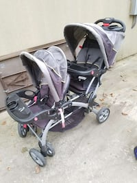 baby's gray and purple tandem stroller Rockville, 20853