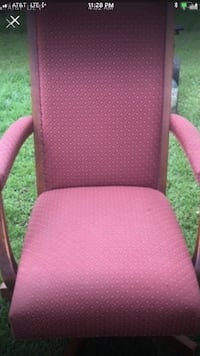 Vintage pink rocking office chair on rollers Bear, 19701