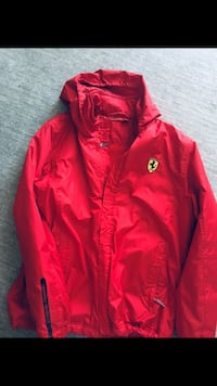 Authentic Ferrari Red Jacket Size -MED (14 yrs) Great condition- $45  Toronto, M4W 1W3