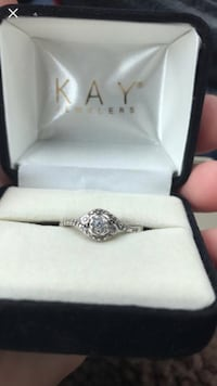 silver diamond ring with box Northport, 35476