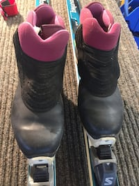Cross country skis boots poles