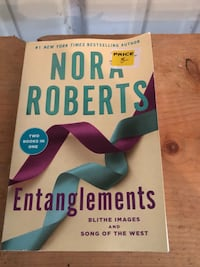 "Nora Roberts 2 in 1 book Entanglements ""Blithe Images"" & ""Songs of the West"" Smithsburg, 21783"
