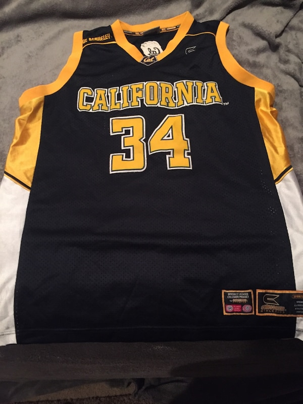 promo code cb4e9 babfe Used Tony Gonzalez #34 Cal Bears Basketball Jersey for sale ...