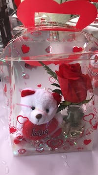 red rose and white bear plush toy gift Riverside, 92501