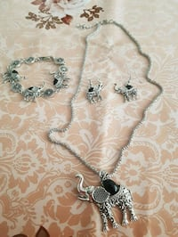 New Gorgeous jewelry set Pendant Necklace Earrings and Bracelet