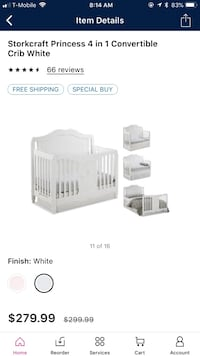 white and gray travel cot screenshot Riverview, 33569