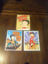 Betty boop tin signs. Diner, motorcycle + 230 mi