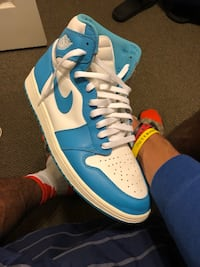 pair of blue-and-white Nike basketball shoes Norfolk, 23508