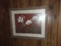 Flowers with gilded frame picture Northumberland, 17857