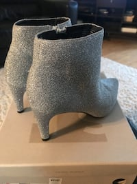 High heels Boots,size(8),Worn only one time on wedding,reg price $115,smoke free home