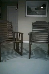 Two Gray Wooden Chairs Stafford, 22554