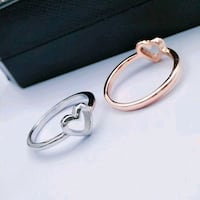 Rose gold and silver rings size 6 Culpeper, 22701