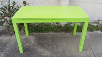 Parsons Style Modern Desk with 2 Slim Drawers.