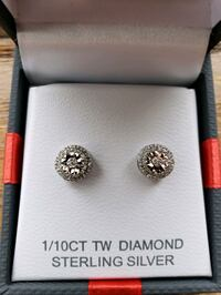 Diamond and Sterling Silver Earrings Sartell, 56377