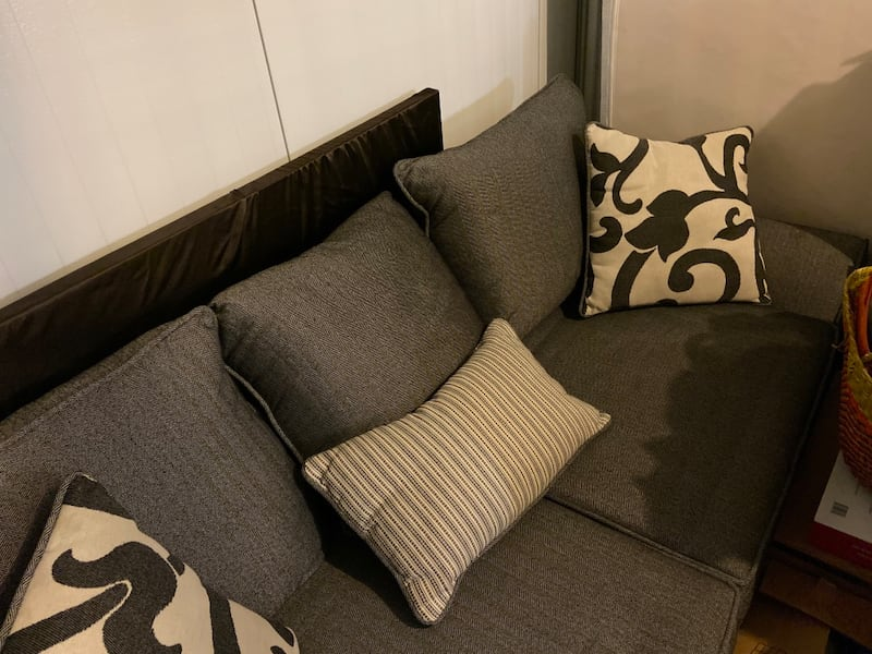 Need gone ASAP Like-new Condition Gray Sofa and Cushions (NEGOTIABLE)  ae5650d4-53fc-4b71-b03f-5eee3e15a491
