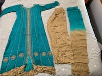 Sea Green and Gold Ethnic Pakistani/Indian Dress Mississauga, L5L