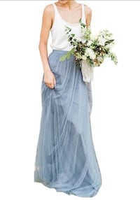 Dusty blue Tulle Maxi Skirt Silver Spring, 20906