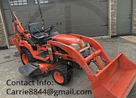 kubota bx25 with all the implements