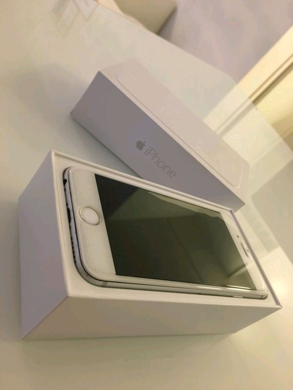 silver iPhone 6 i boxen
