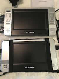 "2 portable DVD's, Sylvania all conectors, remote control, manual, 12"" used once, perfect condition, or better offer . Rockville, 20852"