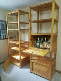 Shelving....great for decorative pieces & booze  Lake Villa