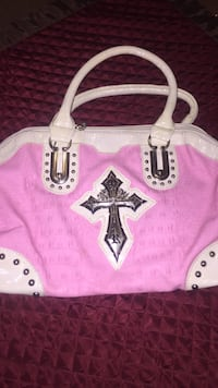 Pink and white leather bag South Bend, 46615
