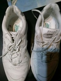pair of white Propet sneakers