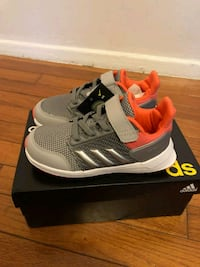 Adidas rapidarun toddler girl sz10 grey/orange Silver Spring, 20906