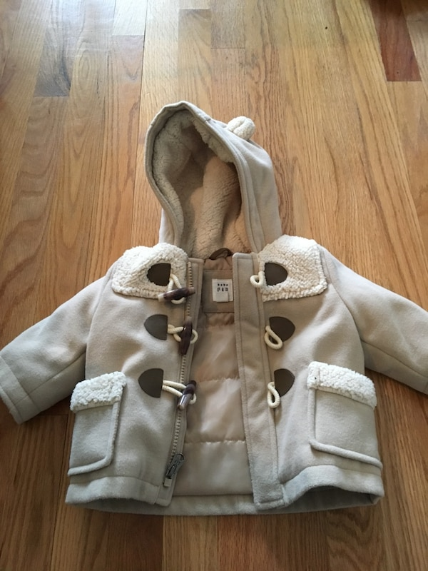 Baby Gap 0-6 months Gray button-up jacket