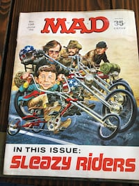 Mad magazine sleazy rider issue June 1970 issue number 135 they are currently selling for 135 on eBay willing to let it go today for 75. Manassas Park, 20111