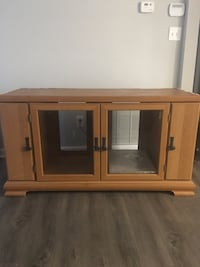 Brown wooden tv stand with cabinet Morrow, 30260