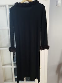 women's black long-sleeved dress null