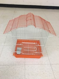 Red and white metal pet cage Herndon, 20170