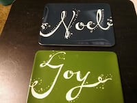 (2) small serving plates from Kohls Zanesville, 43701