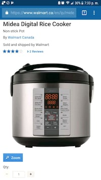 gray and black Aroma rice cooker Toronto, M3H 5L2