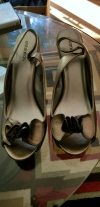 pair of brown leather flats Edmonton, T5T 5Z3