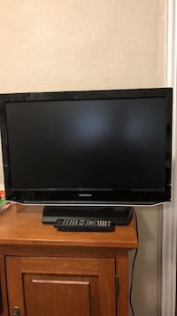"Hitachi 26"" TV with a DVD Player"
