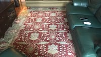 Red and white floral area rug Pooler, 31322