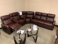 Reclining sectional couch leather new in box hot sale  Jacksonville, 32216