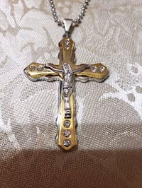 14k goldfilled cross pendant  necklace for men