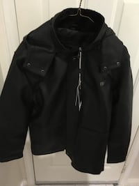 Leather jacket with a detachable hoodie Toronto, M2N 5X8