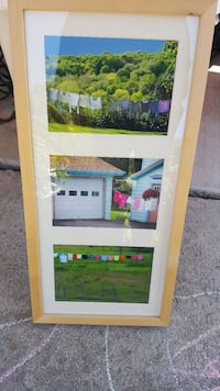 white and beige collage photo frame