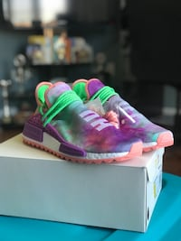 Pharell Holi NMD Chalk Coral Purple Size 10