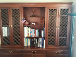 **PRICE REDUCED **Credenza with Hutch / library