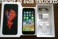 Gray Iphone 6S UNLOCKED 64GB w/ Box & Accessories  Arlington