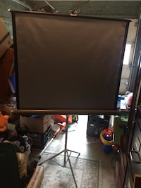 """Vintage Knox Projection Screen Panorama Lenticular Tripod 40"""" x 40"""""""